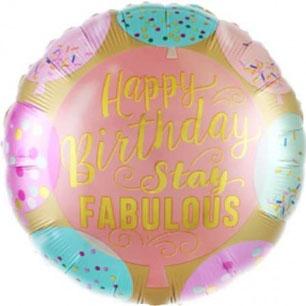 Шар 46 см Круг Сказочного Дня Рождения разноцветное конфетти и воздушные шарики