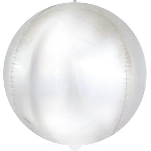 Шар 61 см Сфера Матовое серебро Голография