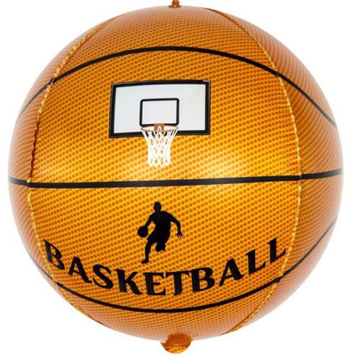 Шар 61 см Сфера 3D Баскетбольный мяч Коричневый