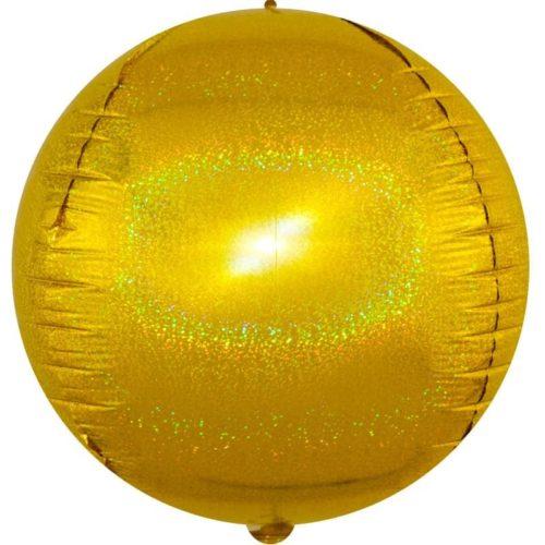 Шар 61 см Сфера 3D Золото Голография