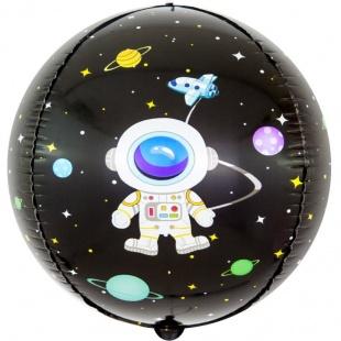 Шар 61 см Сфера 3D Космические приключения