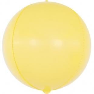 Шар 61 см Сфера 3D Макарунс Желтый