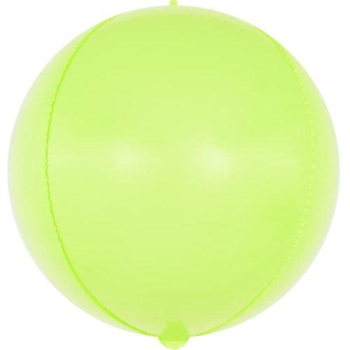 Шар 61 см Сфера 3D Макарунс Лайм