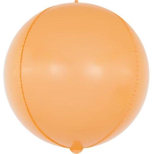 Шар 61 см Сфера 3D Макарунс Оранжевый