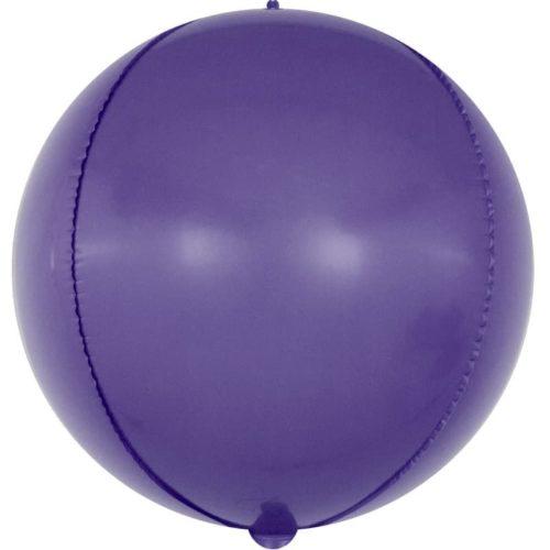 Шар 61 см Сфера 3D Макарунс Фиолетовый