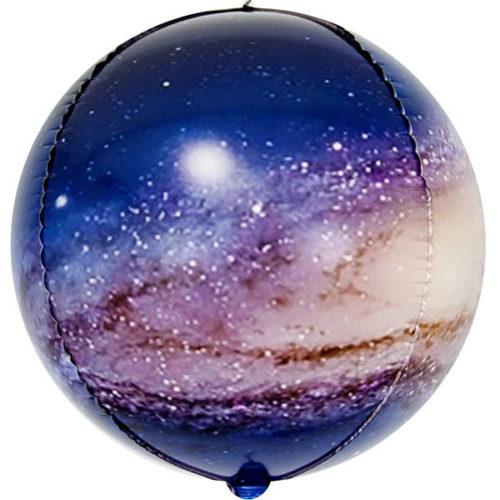 Шар 61 см Сфера 3D Млечный путь в космосе