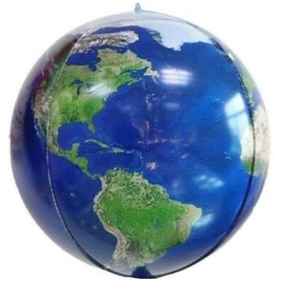 Шар 61 см Сфера 3D Планета Земля