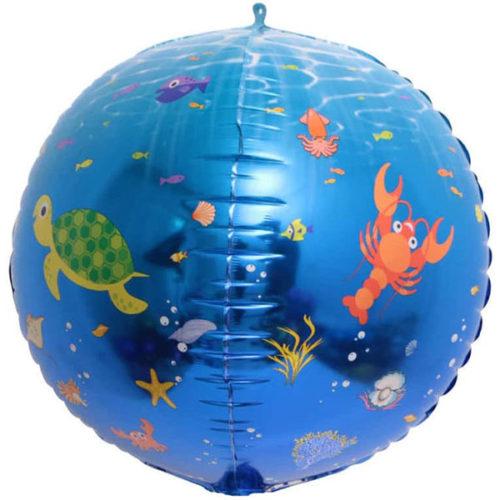 Шар 61 см Сфера 3D Подводный мир