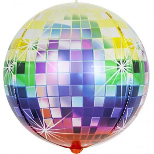 Шар 61 см Сфера 3D Сверкающее диско Разноцветный Градиент
