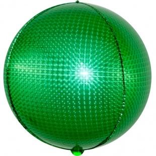 Шар 61 см Сфера 3D Стерео Кристалл Зеленый Голография