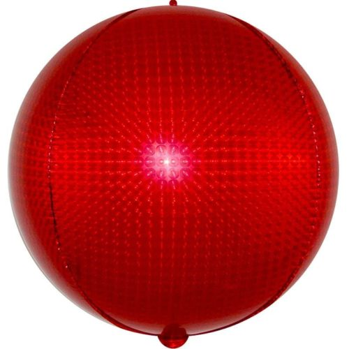 Шар 61 см Сфера 3D Стерео Кристалл Красный Голография