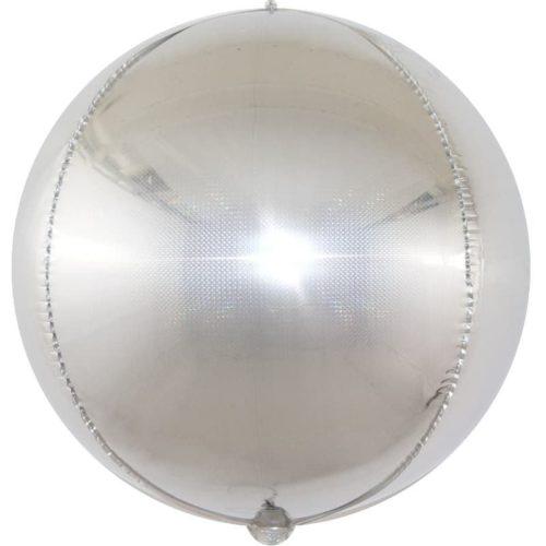 Шар 61 см Сфера 3D Стерео Кристалл Серебро Голография