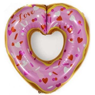 Шар 76 см Фигура Сердце Пончик