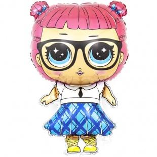 Шар 81 см Фигура Модная кукла плиссированная юбочка