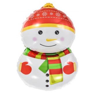 Шар 81 см Фигура Счастливый снеговик