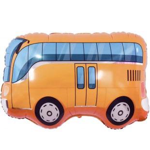 Шар 86 см Фигура Автобус Оранжевый