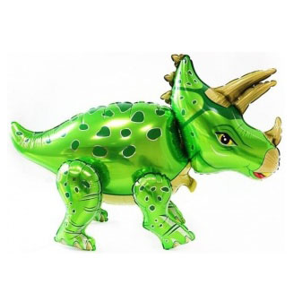 Шар 91 см Ходячая Фигура Динозавр Трицератопс Зеленый