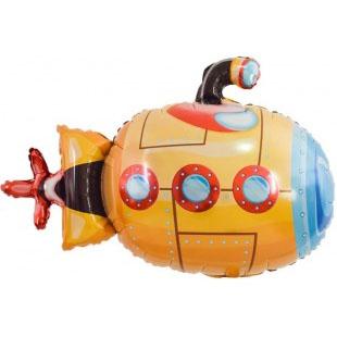 Шар 97 см Фигура Подводная лодка Оранжевый