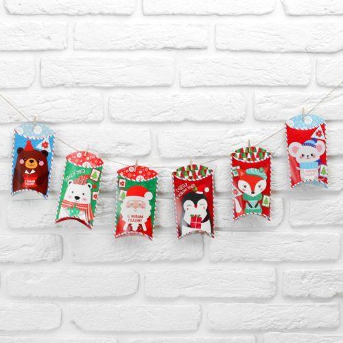 Гирлянда на прищепках Новогодние посылки конвертики 150 см