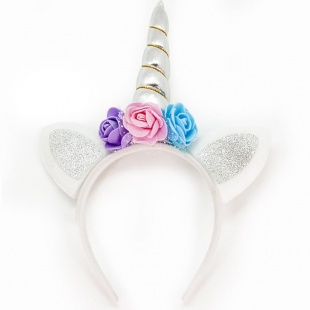 Ободок Ушки Цветочный единорог
