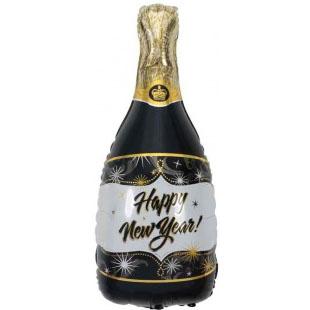 Шар 102 см Фигура Бутылка Шампанское С Новым Годом