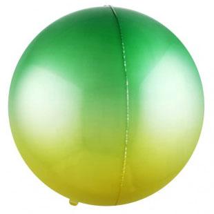 Шар 56 см Сфера 3D Зеленый Желтый Градиент