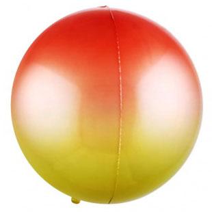 Шар 56 см Сфера 3D Красный Желтый Градиент