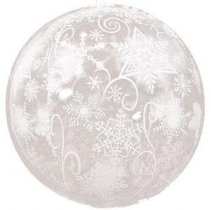 Шар 56 см Сфера 3D Снежинки Прозрачный