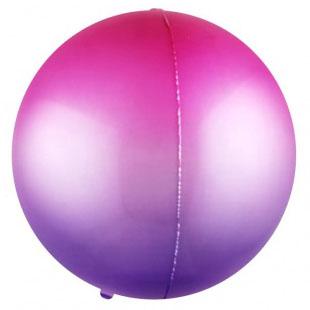 Шар 56 см Сфера 3D Фуше Фиолетовый Градиент