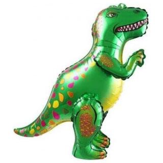 Шар 66 см Ходячая Фигура Динозавр Аллозавр Зеленый