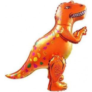 Шар 66 см Ходячая Фигура Динозавр Аллозавр Оранжевый