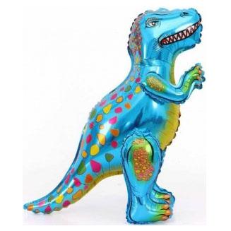 Шар 66 см Ходячая Фигура Динозавр Аллозавр Синий