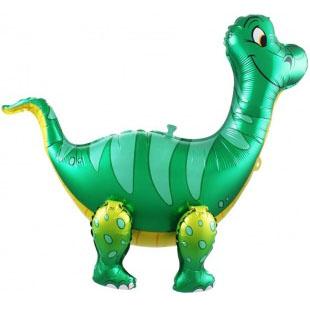 Шар 71 см Ходячая Фигура Брахиозавр Зеленый