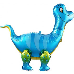 Шар 71 см Ходячая Фигура Брахиозавр Синий