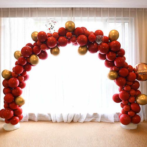 Арка из шаров для украшения Бордо и Золото