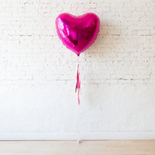 Большой шар с гирляндой Тассел сердце Фкусия