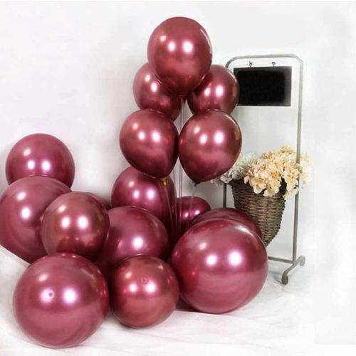 Комплект из шаров для украшения Связка и шары на пол Бордо металлик