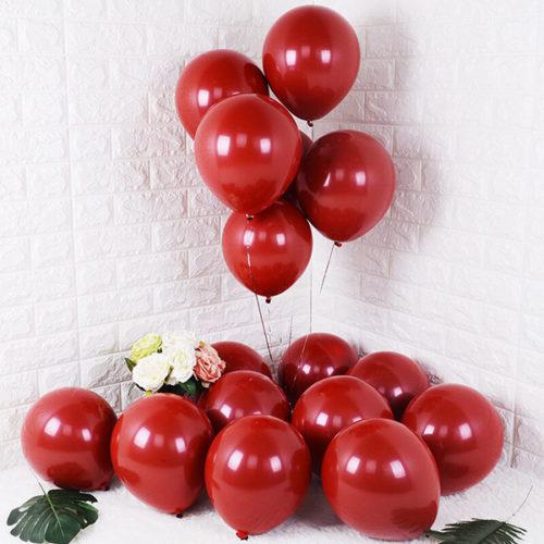 Комплект из шаров для украшения Связка и шары на пол Бордо