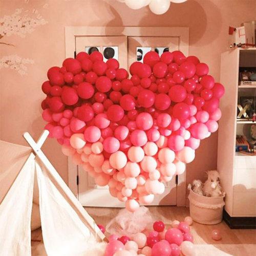 Сердце из шаров Большая Любовь Градиент