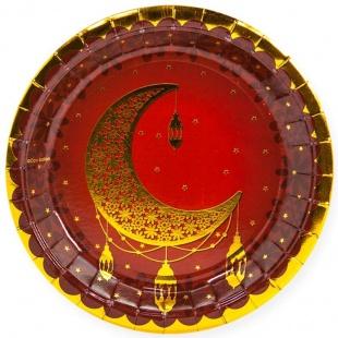 Тарелки 18 см Восточная сказка Золото Гранатовый 6 штук