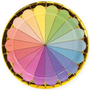 Тарелки 18 см Радужный спектр Золото 6 штук