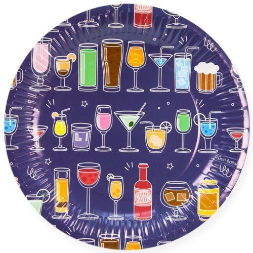 Тарелки 23 см Коктейльная вечеринка Синий 6 штук
