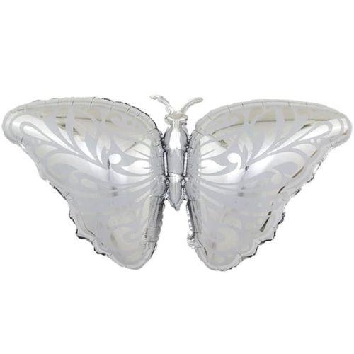 Шар 104 см Фигура Бабочка Серебро