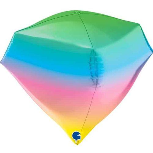 Шар 3D 46 см Алмаз Радужный