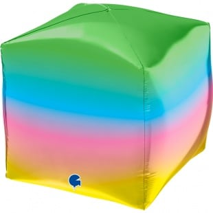 Шар 3D 46 см Куб Радужный