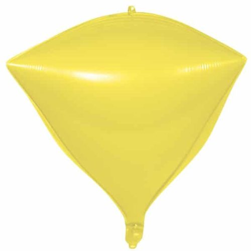Шар 3D 51 см Алмаз Макарунс Лимонно-желтый