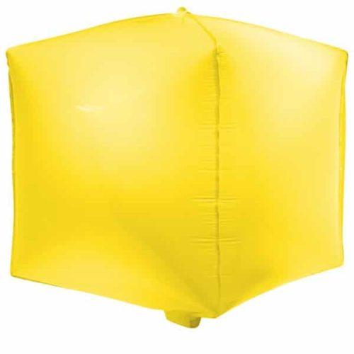 Шар 3D 51 см Куб Макарунс Лимонно-желтый