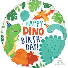 Шар 46 см Круг HB Вечеринка динозавров