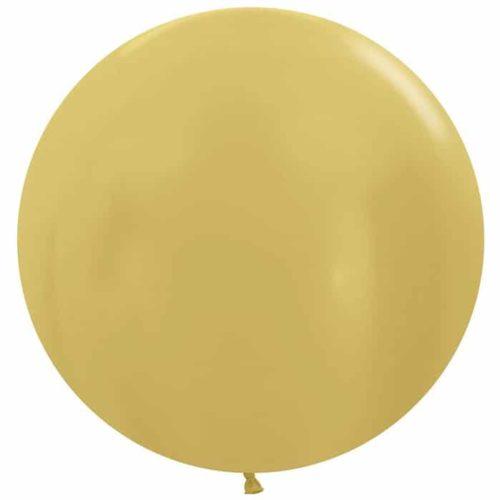 Шар 61 см Золото яркое Металлик