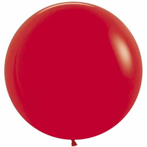 Шар 61 см Красный Пастель